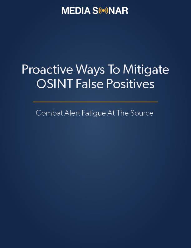 reduce OSINT false positives