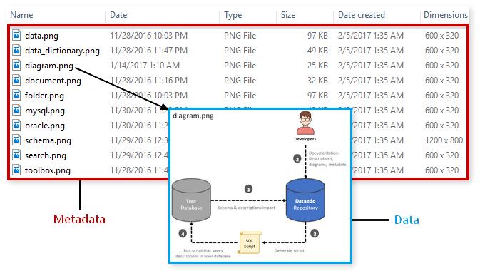 Data and Metadata Example